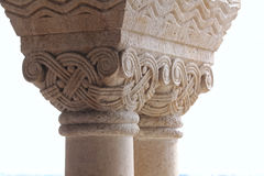 Gothic column7. Hungary, Budapest, Castle Hill Gothic columns detail Stock Photo