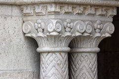 Gothic column5. Hungary, Budapest, Castle Hill Gothic columns detail Royalty Free Stock Photos