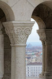 Gothic column4. Hungary, Budapest, Castle Hill Gothic columns detail Royalty Free Stock Photo