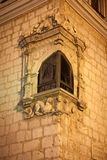 Gothic corner window Stock Photo