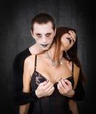 Gothic couple hot shot Stock Photo