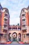 The gothic courtyard Stock Photo