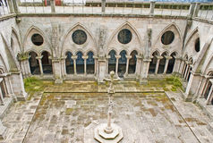 The Gothic courtyard of Porto Cathedral Stock Images