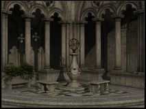 Gothic courtyard Royalty Free Stock Images