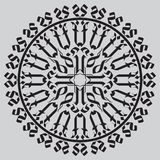 Gothic cross in rosette Royalty Free Stock Photo