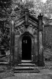 Gothic crypt on Olsany cemetery, Prague, Czech Royalty Free Stock Photography