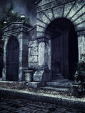 Gothic crypts at night Royalty Free Stock Photography