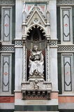 Gothic decorations on Florence cathedral Royalty Free Stock Image