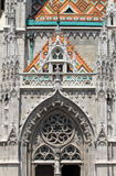 Gothic decorations on Matthias Church Stock Photos