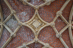 Gothic detail of the medieval town hall in Mechelen. Belgium royalty free stock images