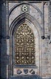 Gothic detail of  Prague Castle Stock Photos