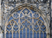 Gothic detail of window. Royalty Free Stock Photography