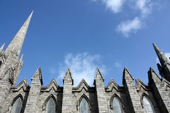 Gothic details. Gothic church details in Dublin royalty free stock images