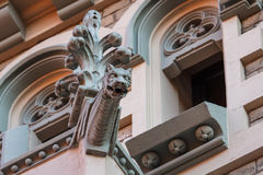 Gothic details of the building in the centre of Vic Royalty Free Stock Image