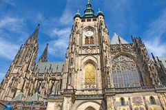 Gothic details of St. Vitus Cathedral in Prague Royalty Free Stock Photos