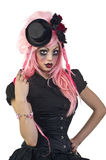 Gothic Dolls. Beautiful and dark Gothic and Lolita doll charactors stock photography