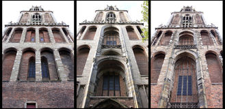 Gothic Dom Tower in Utrecht, Netherlands. Gothic Dom Tower from different sites. The Domtoren or Cathedral Tower, built between 1321 and 1382 in Gothic-style, is royalty free stock images