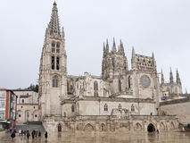 Gothic Dome  of Burgos Cathedra Stock Photo