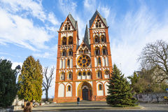 Gothic dome in Limburg, Germany. Famous gothic dome in Limburg, Germany in beautiful colors royalty free stock photos