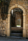 Gothic Door 7. Old stone wall, with gothic style door in old ruins Stock Image