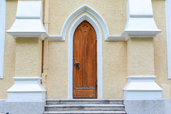 Gothic door in the Church Stock Image