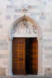 Gothic door of Santa Maria, San Daniele Royalty Free Stock Images