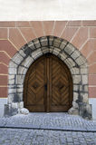 Gothic door. Stock Photos