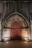 Gothic Door to the Igreja do Carmo in Lisbon Stock Photos