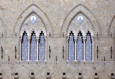 Gothic double windows Stock Photography