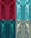 Gothic Dragons Seamless. Vector seamless pattern with colored gothic dragons. Gothic Background. Seamless Background Royalty Free Stock Photos
