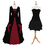 Gothic dress set Stock Photo