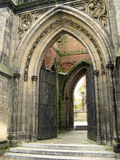 Gothic entrance. The entrance of an old gothic cathedral Royalty Free Stock Images