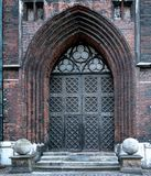 Gothic entrance portal of church Stock Photo