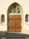 Gothic entrance to the church. Entrance to the gothic church Royalty Free Stock Image