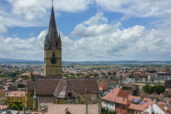 Gothic evangelical church of Sibiu Royalty Free Stock Photography