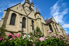 Gothic evangelical church of Sibiu Royalty Free Stock Image