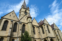 Gothic evangelical church of Sibiu Stock Photo
