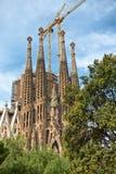 Gothic exterior of the Sagrada Familia Royalty Free Stock Photos