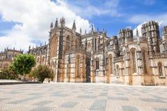 Gothic facade of Batalha monastery Stock Image