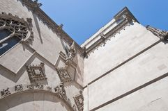 Gothic facade of the Cityhall at Barcelon Royalty Free Stock Photo