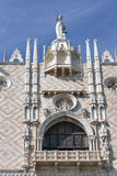 Gothic facade of Doge Palace in Venice, Italy. Royalty Free Stock Images