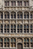 Gothic facade in the historic centre of Ghent Royalty Free Stock Image