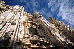 Gothic facade of the Milan Cathedral Stock Photos