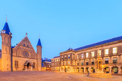Gothic facade of Ridderzaal in Binnenhof, Hague Royalty Free Stock Photography