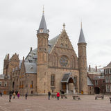 Gothic facade of Ridderzaal in Binnenhof, Netherlands Royalty Free Stock Images
