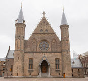 Gothic facade of Ridderzaal in Binnenhof, Netherlands Stock Photos