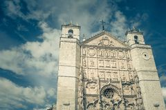 Gothic facade of San Pablo church, Valladolid, Spain Royalty Free Stock Photo