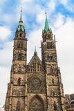 Gothic facade of St Lawrence Church, Nuremberg Stock Image
