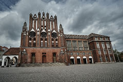 The Gothic facade of the town hall. In Frankfurt an der Oder Royalty Free Stock Photo