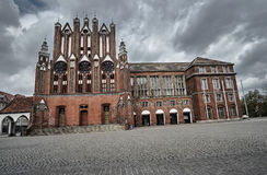 The Gothic facade of the town hall. In Frankfurt an der Oder Stock Photos